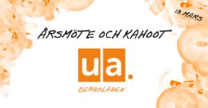 Årsmöte med UA Bergslagen @ Digitalt Teams